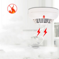 Smoke sensor smoke alarm fire home kitchen wireless independent sensing fire detector
