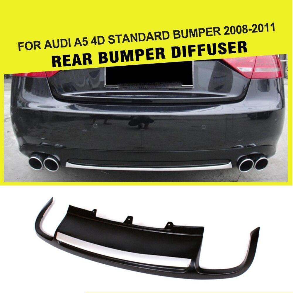 Car-Styling PU Rear Diffuser Lip Spoiler For Audi A5 Sedan 4 door Standard 2008-2011