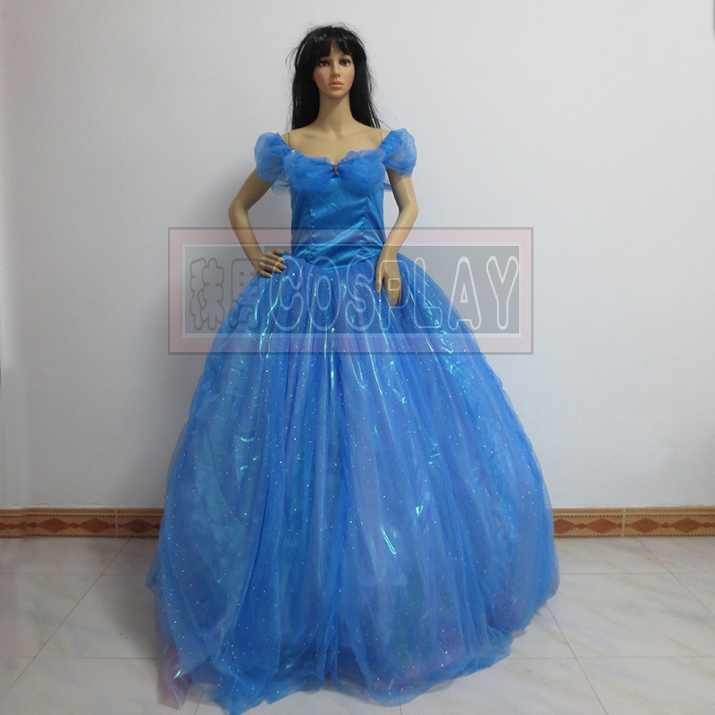 Free shipping Cinderella princess cosplay costume anysize Cinderella Dress