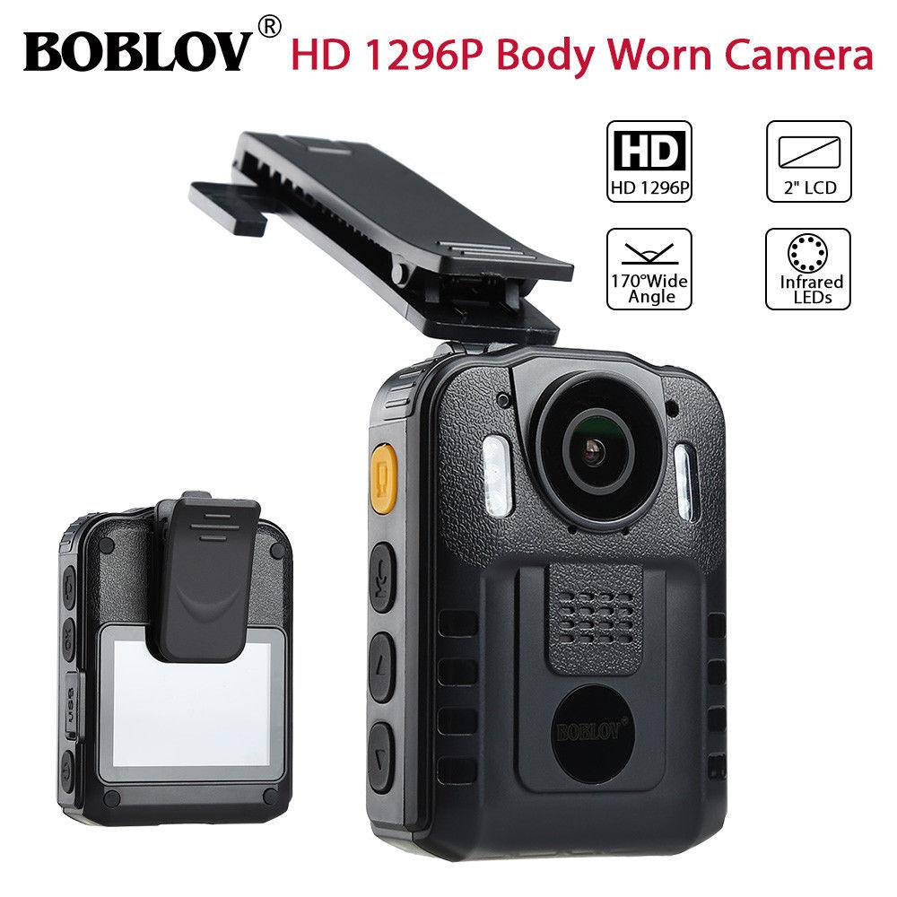 BOBLOV WN9 HD 1296 P Novatek 96650 IR портативная камера ночного видения 170 градусов безопасности карманная полицейская камера Espanol multi-язык