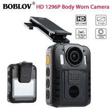 BOBLOV WN9 HD 1296 P Novatek 96650 ИК камера ночного видения 170 градусов безопасности карманная полицейская камера Espanol Многоязычная