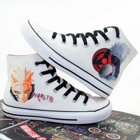 New Women Men Casual High Top Canvas Shoes Female Student Daily Cartoon Anime Naruto Cosplay Shoes
