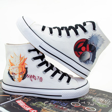 New women/men casual high-top canvas shoes female student daily Cartoon Anime  Naruto Cosplay Shoes size 35-43