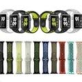 Marca deportes de silicio correa de la banda para apple watch 38mm 42mm 1:1 original negro/volt negro/gris plata iwatch correas de reloj goosuu
