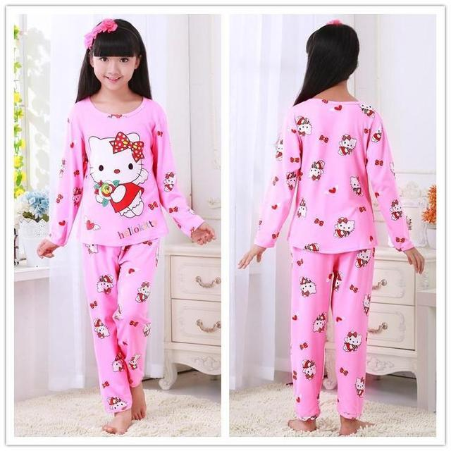 cd909f310b Palace princess style 2018 children s pajamas set cotton pajamas set 3-12Y pajamas  girls pajamas loli cute home service