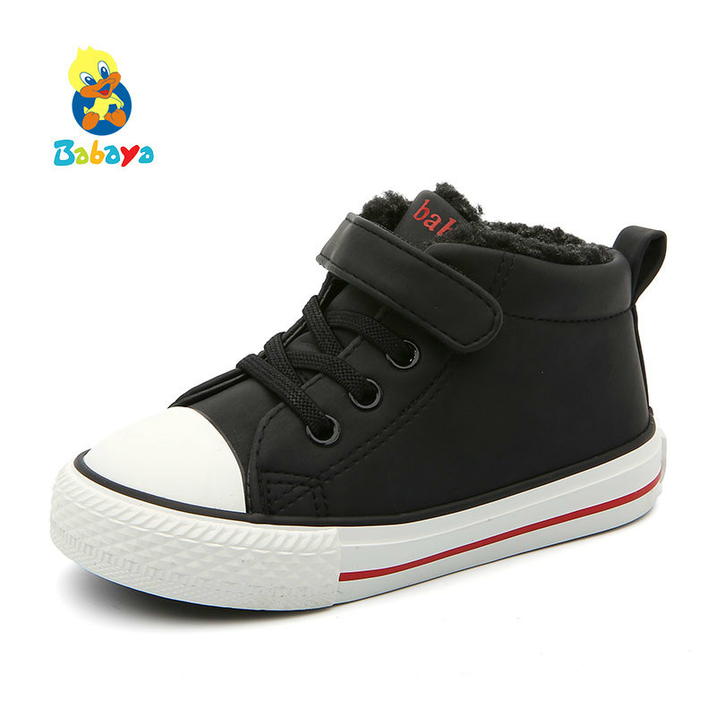 2018 Winter Children's Shoes Girls Cotton-padded Shoes Baby Shoes Thickening Increase Down Winter New Boys Boots Casual Shoes