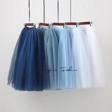 Уличная 5 слоев 65 см миди плиссированная юбка для женщин Готический высокая Талия Тюль приталенная юбка rokjes dames ropa mujer jupe femme