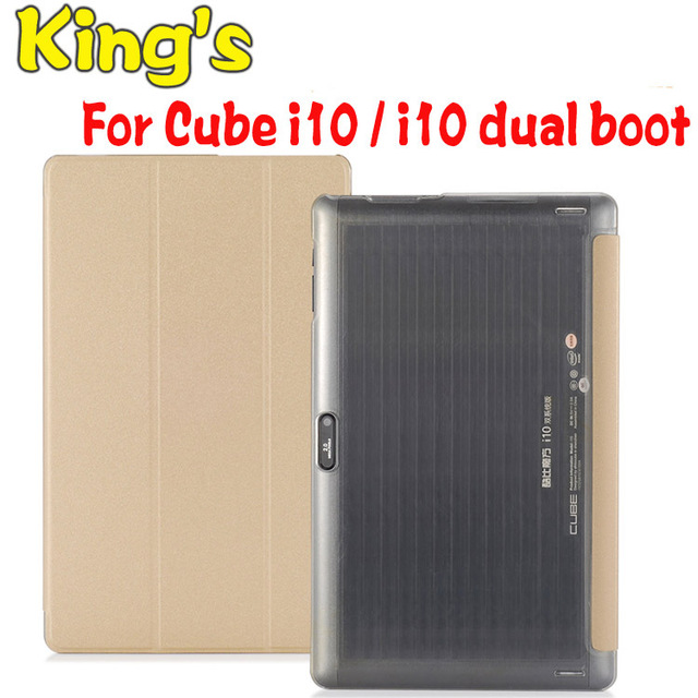 Küp i10 Çift Boot PU Deri Kılıf Özel Standı Flip Kapak Küp i10 10.6 inç Tablet PC ücretsiz ekran koruyucu film