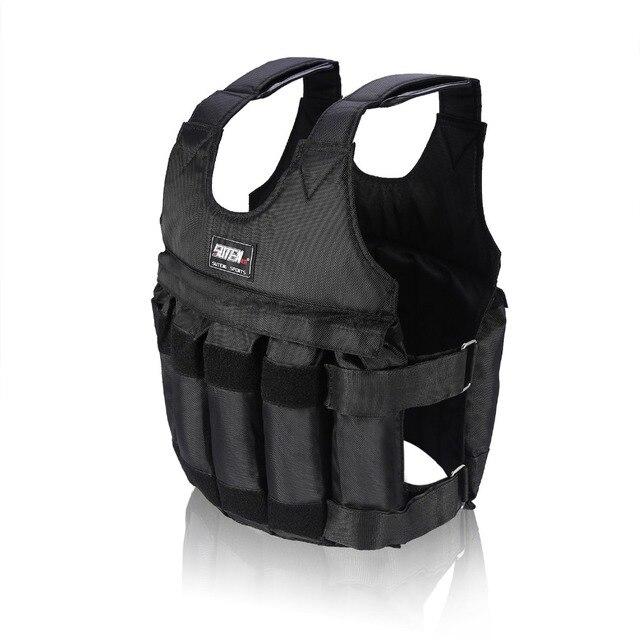 20 50Kg Max Carga Peso chaleco boxeo entrenamiento espesamiento ejercicio chaleco Durable ajustable peso chaqueta Invisible arena