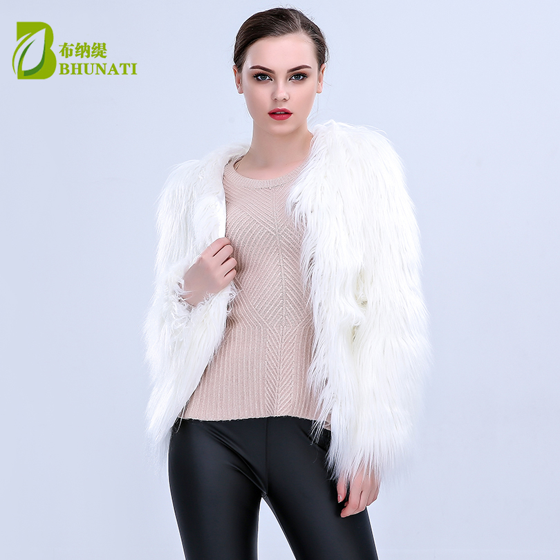 LED Fur coat stage costumes female costume LED luminous clothes jacket Bar dance show faux fur coats star nightclub LED