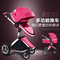 Multifunctional Stroller Folding Ultra Light Can Sit Reclining High Vision 360 Degree Anti vibration Wheel