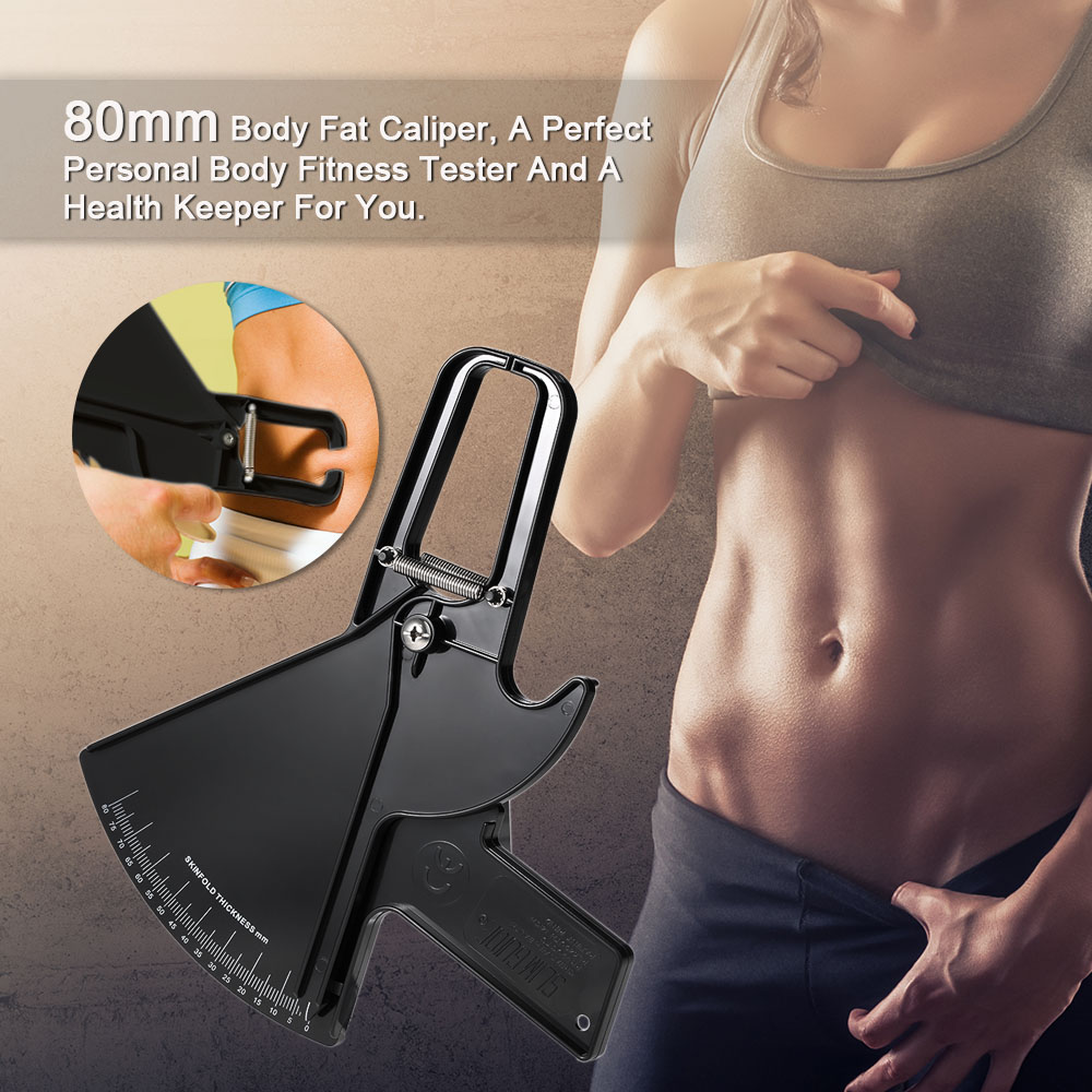 80mm Body Fat Caliper Skinfold Measurement Tool Personal Body Fitness Tester Beauty Health Keeper Body Fat Monitors