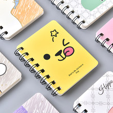 Small rollover portable coil notebook mini Korea creative pocket notepad book stationery(China)