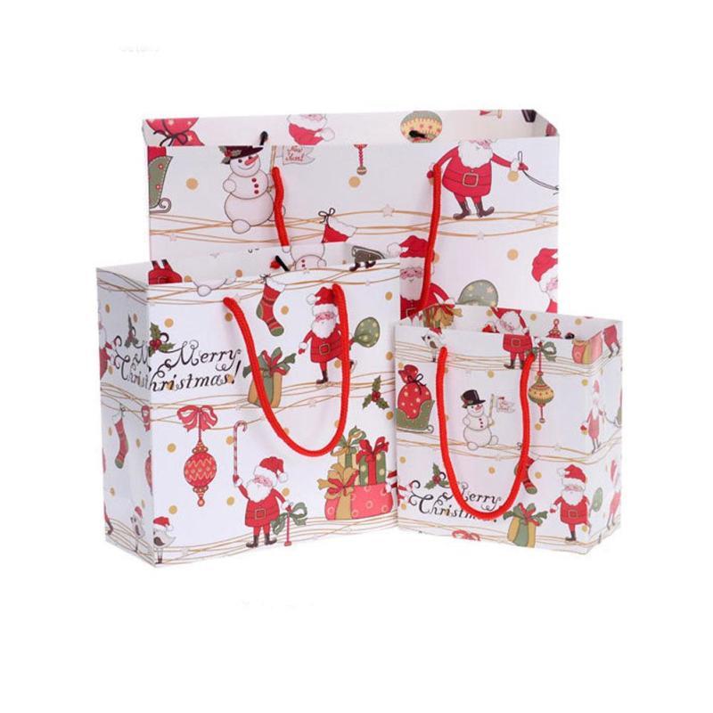 1 stück Weihnachten Papier Geschenk taschen Mit Griff Für ...