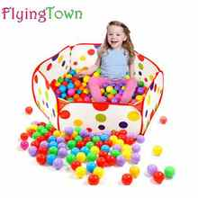 FlyingTown 120cm Kids Folding Ocean Ball Pool Toy Tent Play Game House tent Pool Children Tent Outdoor Fun Sports Lawn Game недорого