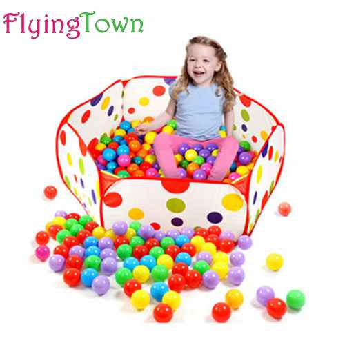 FlyingTown 120cm Kids Folding Ocean Ball Pool Toy Tent Play Game House tent Pool Children Tent Outdoor Fun Sports Lawn Game