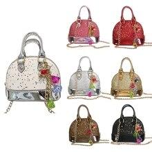Cute Kids Girls Sequins portable bag Purse Wallet Tassel Hand Bags Shoulder Bag  Coin Purse new e156a6435f44