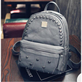 Women rivet backpack Small school bag Female Teenage Backpacks pu leather shoulder bag travel rucksack mochila feminina XD3889