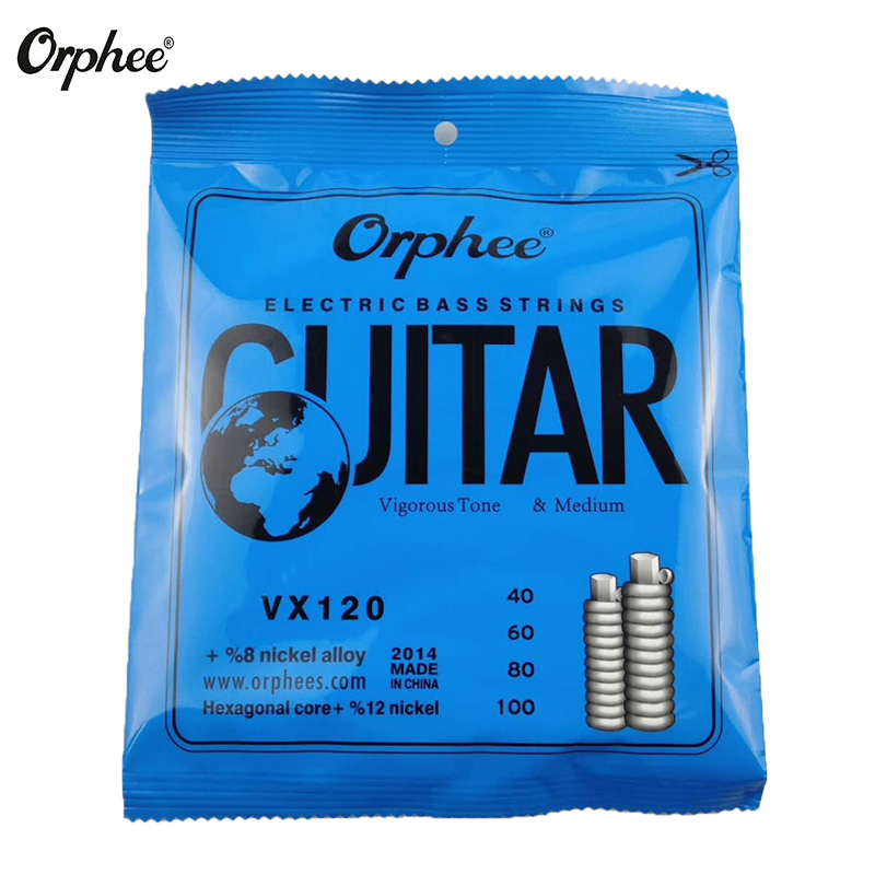 Orphee Electric Bass Strings Hexagonal Carbon Steel Nickel Alloy Wire Medium Light Strong 4 Strings Guitar Accessories in Guitar Parts Accessories from Sports Entertainment