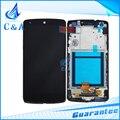Novas peças de reposição para lg google nexus 5 d820 d821 lcd exibição da tela com digitador touch com frame 1 peça frete grátis