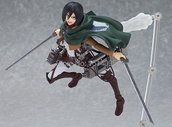 "Attack on Titan Figma 203 Mikasa Ackerman 6"" PVC Action Figure Collection Model Toy At007"