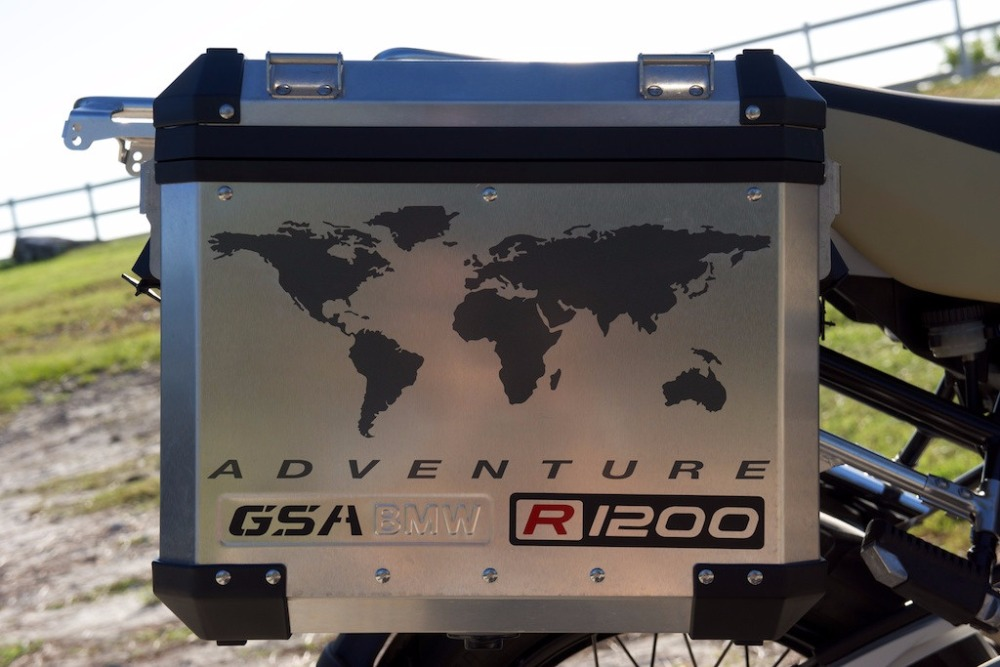 GS Motorcycle Decal Kit R1200 World Adventure Map for Touratech Panniers 95