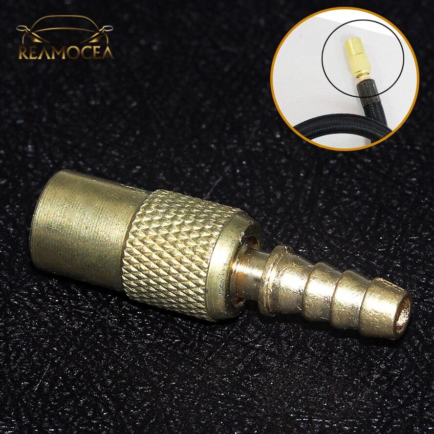 Reamocea 1 pc 6mm 자동차 자동 아연 합금 타이어 휠 타이어 공기 척 팽창기 펌프 밸브 클립 클램프 커넥터 어댑터