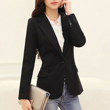 Blazer women 2016 Fashion Autumn Casual Blazer Jacket Women Slim Single Button Outerwear Suit Women Coat OL blazer