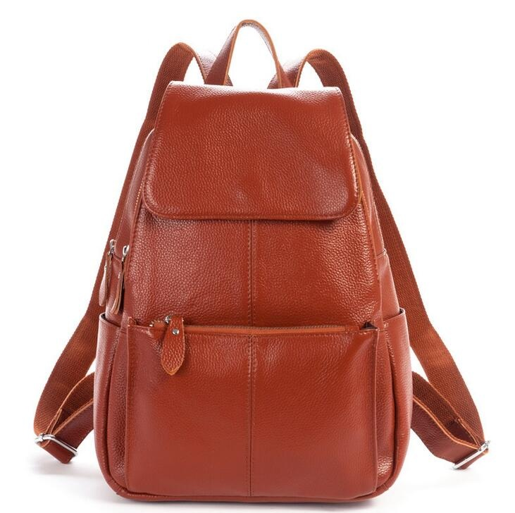Vintage Women Backpack Genuine Leather Backpack Women 2017 Hot sale School Bags for Teenagers Fashion Backpacks