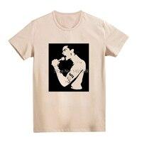 黒旗純粋な パンク に道路白と カーキ tシャツ ブランド新発売中