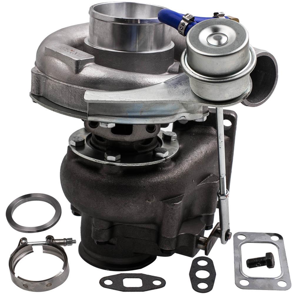 범용 Turbo T3 T4 T04E A / R .50 A / R .63 V- 밴드 오일 2.0-3.5L - 자동차부품 - 사진 3