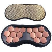 High Quality Eye Care Tourmaline Magnetic Therapy Anti Fatigue Eye Massager Sleep Travel Eyepatch Mask Eyeshade
