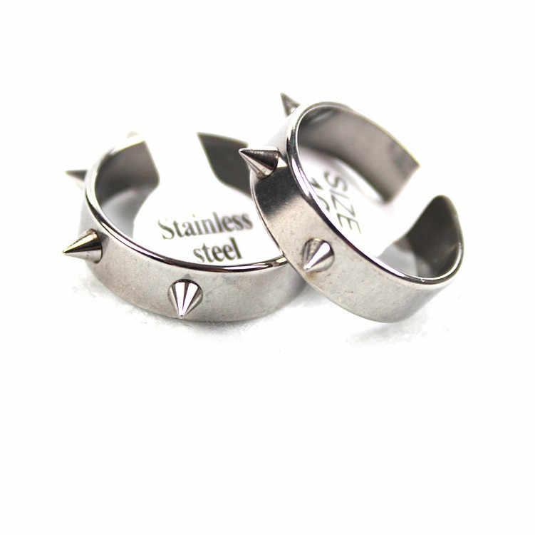 Klinknagels Ring Nieuwe Punk 3 Klinknagel Roestvrij Staal Paar Ringen Waargenomen Temperatuur Stemming Verkleuren Rvs Ringen 20020