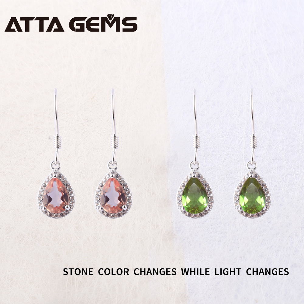 Aliexpress Diaspore Sterling Silver Drop Earrings For Women Zultanite Color Changes Stone Special Design Fine Jewelry Birthday Gifts From Reliable