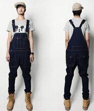 Джинсовые комбинезоны мужчины биб джинсы 2016 новое поступление в целом корейский мода бесплатная доставка