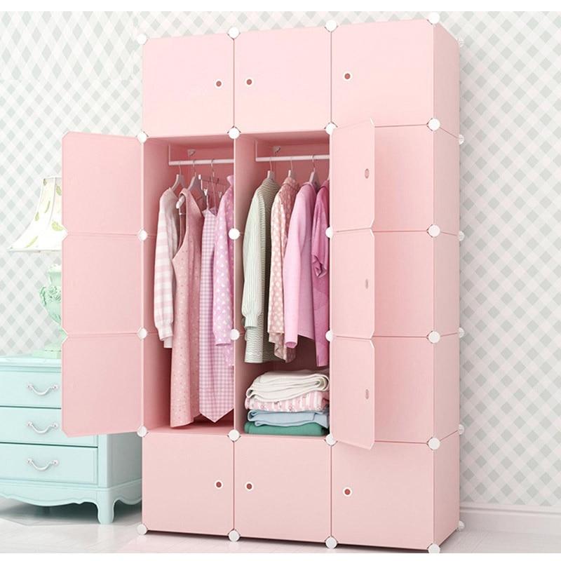 DIY Closet Home Clothes Storage Hanging Wardrobe