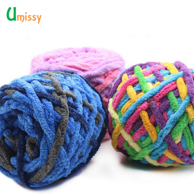 16b47b29b26 1pc Colorful Cashmere Wool YarnThick Yarn for Knitting Beautiful Hat Scarf  Sweater Shoes giant wool blanket