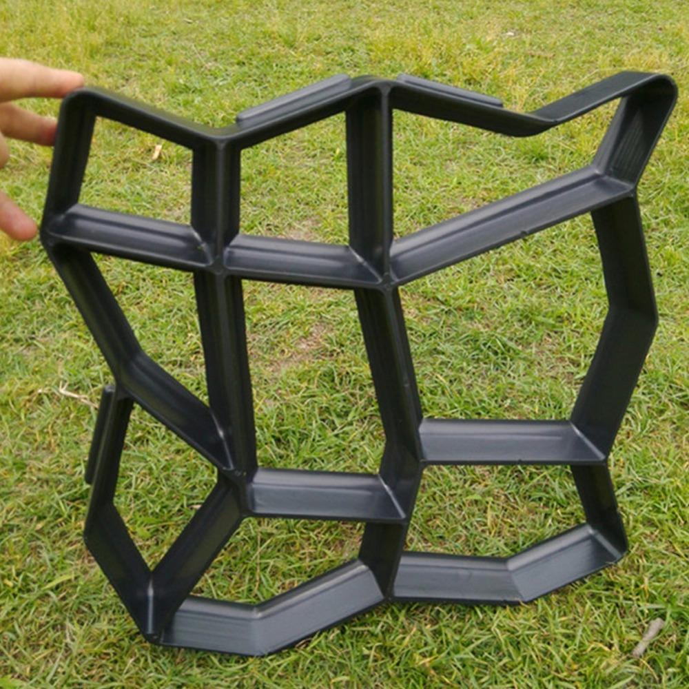 DIY Plastic Path Maker Mold House Garden Paving Cement Brick Molds Stone  Pattern Road Auxiliary Tools