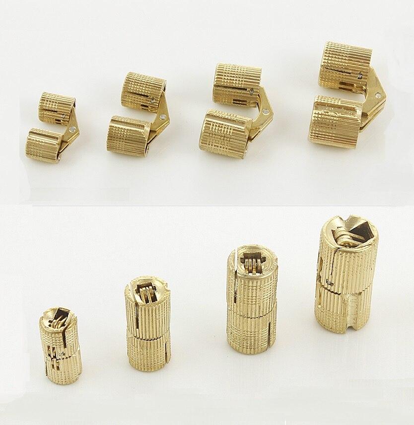 10pcs/Lot 8mm 10mm 12mm 14mm 16mm 18mm Brass Barrel Hinge Invisible Furniture Hinge Conceal Hinge10pcs/Lot 8mm 10mm 12mm 14mm 16mm 18mm Brass Barrel Hinge Invisible Furniture Hinge Conceal Hinge