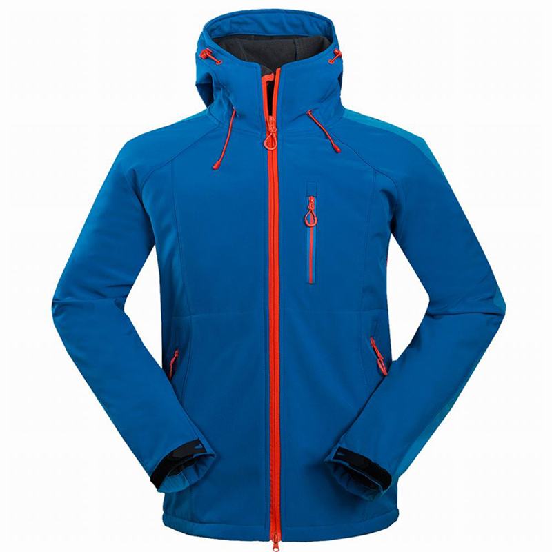 Winter Spring Men Outdoor Waterproof Jacket Softshell WindStopper Sports Camping Hiking Coats Male Thermal Ski Clothing RM001