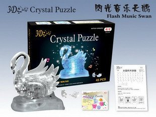 DIY TOY for children 3D Crystal Puzzle (MIX SHAPED) Educational toy,Wholesale and Retail