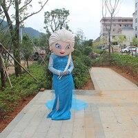Gorąca Sprzedaż Postać Z Kreskówki Księżniczka Elsa Sukienka z Hot Movie Elsa Maskotki Kostium Theme Darmowa wysyłka