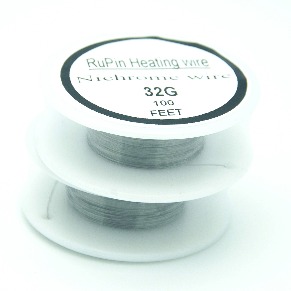 RuPin Heating Wrie Nichrome wire 32 Gauge 100 FT 0.2mm Resistance ...