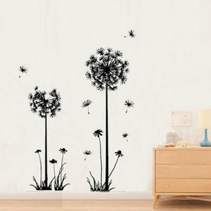 Image 3 - Hot black dandelion sitting room bedroom wall stickers household adornment wall stickers on the wall