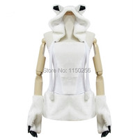 Sexy Halloween Christmas Party Animal Fur Costume For Women Audlt White Bear Cosplay Costumes New Free Shipping