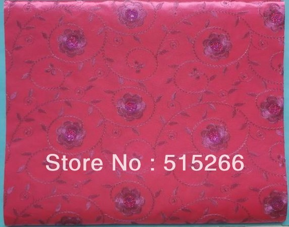 Free Shipping by DHL,african headties, High quality embroidery headtie, 5 bags/set(2pcs/bag),sego 000HT0063rose red