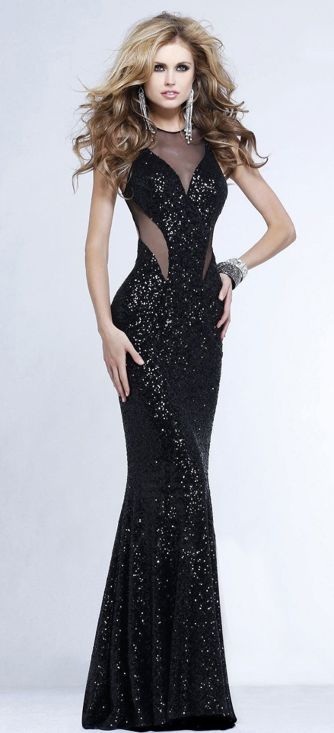 Online Get Cheap Black Sequin Prom Dress -Aliexpress.com | Alibaba ...