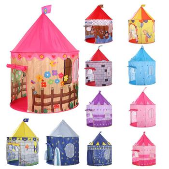 EllePeri Kids Teepee Play Tent House For Kids Ball Pool Tent Boy Girl Princess Castle Portable Indoor Outdoor Baby Play Tents House Hut For Kids Toys