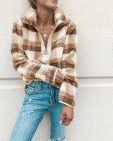 autumn gothic hot sale fashion woman sweatshirt full plaid print pullovers hooded slim sheath comfortable sweatshirt
