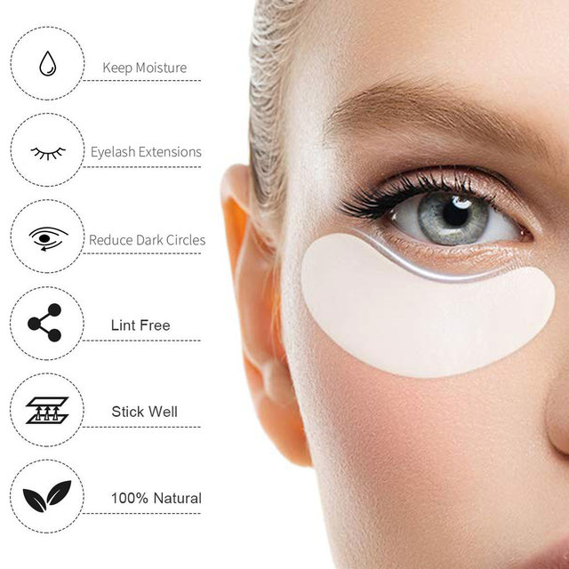 100Pairs Eyelash Extension Eye Pads Pillows Disposable Patches for Eyelashes Under Eyes Tips Lint Free Lash Sticker Wraps Makeup 2